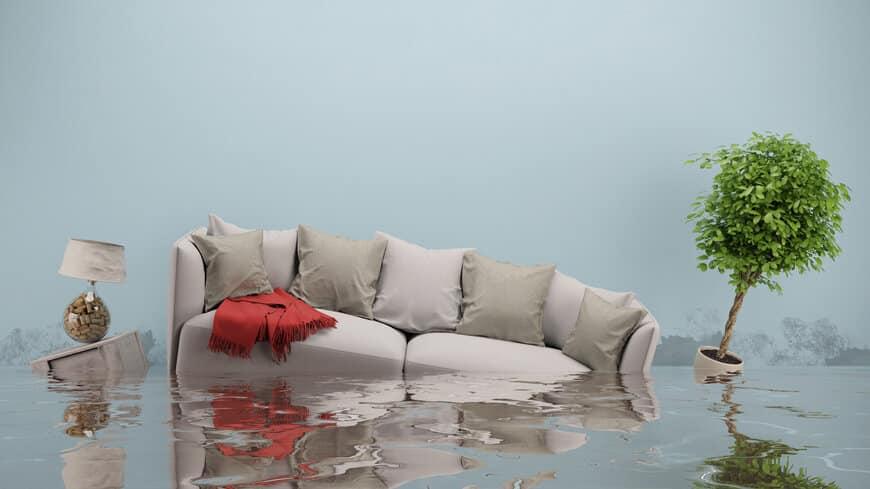 Hochwasser im Haus