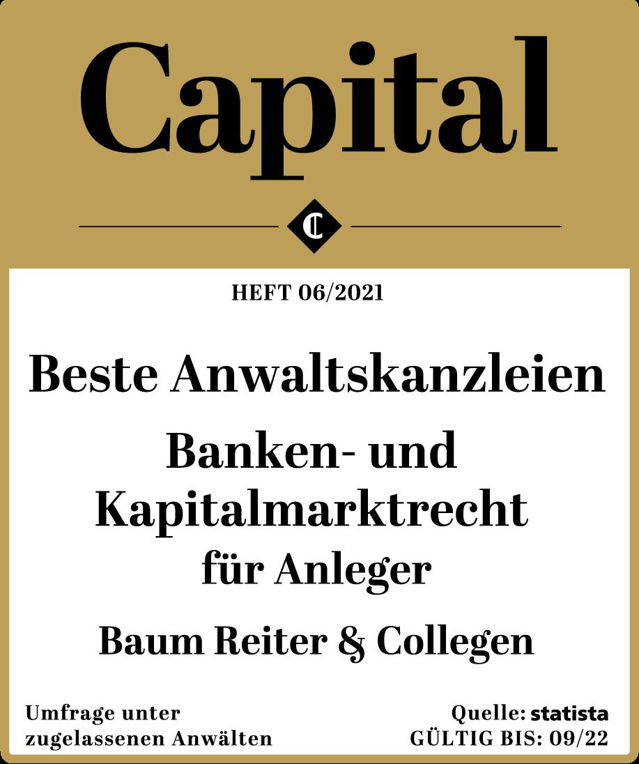 Capital beste Anwaltskanzleien 2021