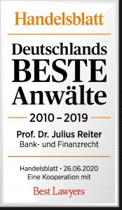 Julius Reiter Bestlawers beste Anwälte 2020